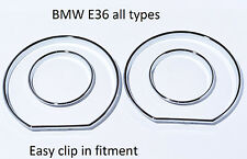 NEW BMW E36 gauge rings instrument cluster high glossy chrome tachoringe M3