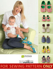 SEWING PATTERN! MAKE BABY SHOES + MATCHING SHOES FOR MOM! 5 STYLES`3 SIZES!