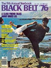 1976 Black Belt Yearbook Magazine Bruce Lee on Cover