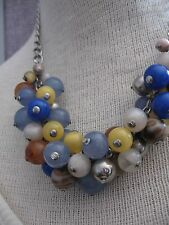 New York NY & Company FASHION beads marbles colorful chunky collar necklace