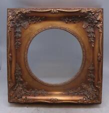 Dorado sólido marco De Madera 20cm X 20cm apertura-Tamaño Total 31,5 Cm X 31,5 Cm