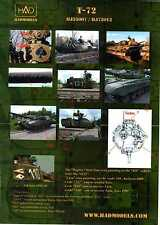 Hungarian Aero Decals 1/72 RUSSIAN T-72 TANK in Hungarian Army Service