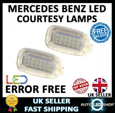 MERCEDES BENZ SL W230 WHITE SMD LED SUN VISOR MIRROR LAMPS INTERIOR UPGRADE