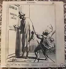 """Honoré Daumier. Lithographie originale. Série """"Actualités"""" n°129 19ème siècle."""