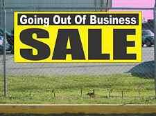 Yellow Black & White GOING OUT OF BUSINESS SALE Banner Sign NEW Larger Size