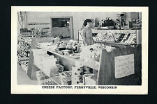Ferryville Wisconsin WI 1968 Interior, Cheese Factory SALES ROOM, Advertising PC