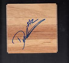 Derrick Martin Autographed 6x6 Hardwood Floor Tile