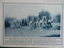 1914 GERMAN SW AFRICA CAMEL CORPS; TARGET PRACTICE  WW1 (1 SHEET, BOTH SIDES)