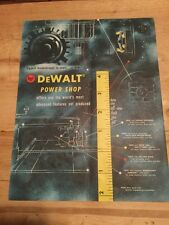 DeWalt  Power Shop Saw Advertisement