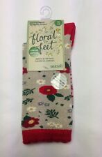 Women's Limited Edition Super Soft Floral Bamboo Socks Size 3-8 -Seasalt