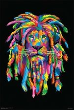 LION RASTA DJ RAINBOW - BOB WEER - POSTER (91x61cm)  NEW WALL ART