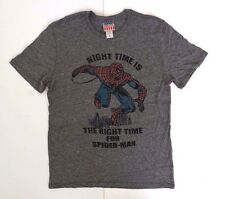 Marvel Junk Food Spider-Man Men's Adult Grey Superhero T-Shirt Size Small NEW
