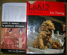 LOT 2 LIVRES L'ART IMPERIAL CHINOIS PEKIN IMPERIAL + PEINTURE CHINOISE P. SWAN