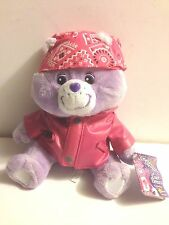 CARE BEAR BIKER SHARE BEAR FAUX LEATHER JACKET BANDANNA  CELEBRATION EDITIONNEW~