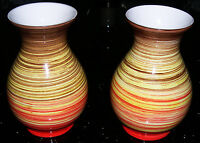Studio pottery - Hand painted - Pair of Quality Decorative Vases. Mark at Base.