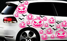 99x Hexe Sterne Auto Aufkleber Wandtattoo Hexenkutsche Gothic Halloween Kürbis x