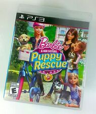 Barbie & Her Sisters Puppy Rescue (Sony PlayStation 3, 2015) Complete w/ Manual