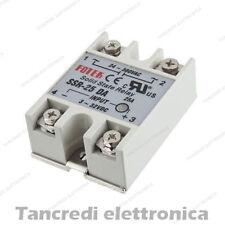 Relè SSR-25DA statico stato solido 25A 380-24Vac - 32-3Vdc solid state relay