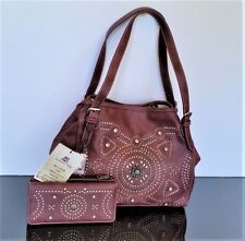 Montana West American Bling Concealed Carry Handbag Western Purse Burgundy New