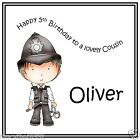 Handmade Personalised Birthday Card ANY AGE Boy Grandson Son Brother Policeman