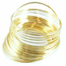 60mm Memory wire 60 coils gold plated for bangle bracelet loops for jewellery