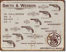 Smith & Wesson revolver colección estados unidos retro metal cartel escudo