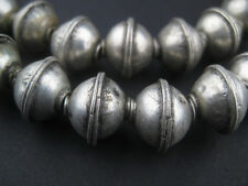 African Berber Silver Bicone Beads (12x14mm) Morocco