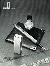 PUBLICITE ADVERTISING 0217  1981  Dunhill London  stylo briquet montre portefeui