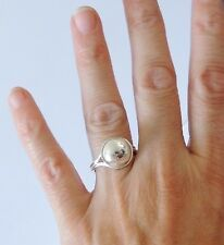 925 STERLING SILVER BALL RING size P or R   (everyday wear)