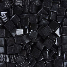 12mm Mosaic Glass Tiles - 4 Ounces About 90 Tiles - Black