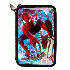 Marvel Amazing Spiderman 2 llenas de doble nivel Lápiz Funda Papelería Boys Blue
