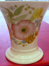 WEDGEWOOD VASE BONE CHINA MEADOW SWEET FLORAL PRETTY SPRING COLOURS PINK BLUE