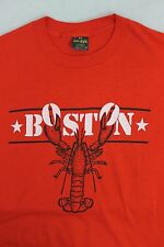 Vintage 80s Boston Lobster 5050 Thin Tee T Shirt Size XL Mass New England