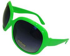 Señoras para mujer Verde Marco Grande Retro Vintage Gafas De Sol Uv400 Aviator