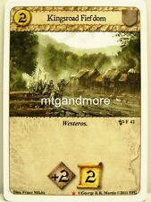 A Game of Thrones LCG - 1x Kingsroad Fiefdom  #042 - Westeros Draft Pack Starter
