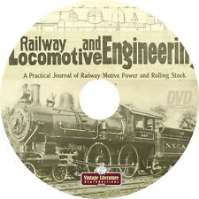 Railway and Locomotive Engineering Journal { 1901 to 1928 } on DVD