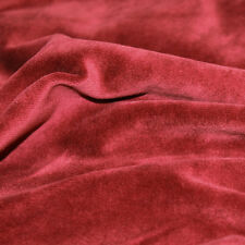 Solid Soft Cotton CVC Velour Cotton Polyester Fabric by Yard