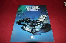White Oliver Tractor Lawn Boss Push Mowers Dealers Brochure YABE6