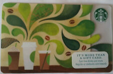 Starbucks 2015 limited edition green GIFT CARD RECHARGEABLE BILINGUAL !