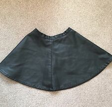 SIZE MEDIUM FOREVER 21 BLACK FAUX LEATHER SKATER SKIRT TOWIE/ XMAS RRP £35