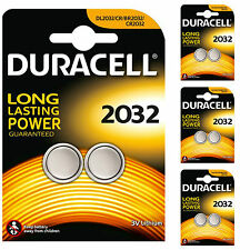 8 X Duracell CR2032 2032 3V Lithium Coin Cell Batteries DL2032 4 TWIN PACKS