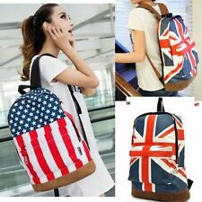 UK England Hot Canvas Flag Punk BackPack Shoulder GYM Bag Handbag Duffle School