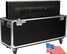 "ATA Kent Custom Dual Two 42"" LCD LED Plasma TV Flat Screen Case Road Heavy Duty"