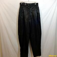 LEATHER 2000 by HIRA Soft 4-pocket Lambskin LEATHER PANTS Mens size 28 Black