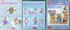 Lot of 3 Cherished Teddies Cross Stitch Books - Sports, Bearatitudes & America