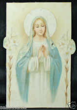 OLD BLESSED VIRGIN MARY AND FLOWERS HOLY CARD ANDACHTSBILD SANTINI SEE SHOP C779