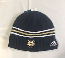 Notre Dame Fighting Irish ADIDAS Knit Beanie Toque Winter Hat New Blue stripes