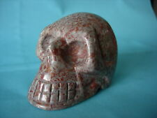 Crystal Skull chinese red spotty fossil only a few like this