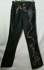 NEW RARE MARCIANO Decorated Embroidered Paisley Flare Bootcut Jeans Size 28