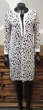DVF 8 Black White Print Silk Tunic ACHELLE Diane Von Furstenberg Dress - NEW NWT